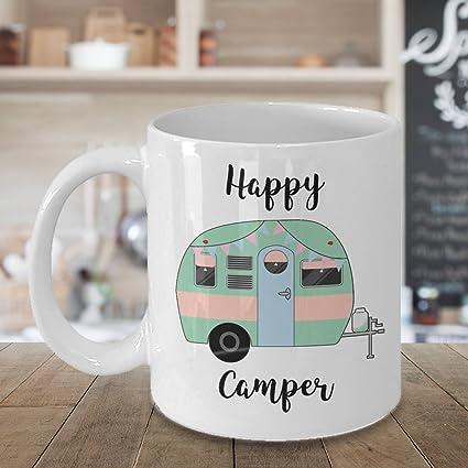 47f68b6802a Amazon.com: Camper Coffee Mug - Happy Camper Mug - RV Mug - Happy ...