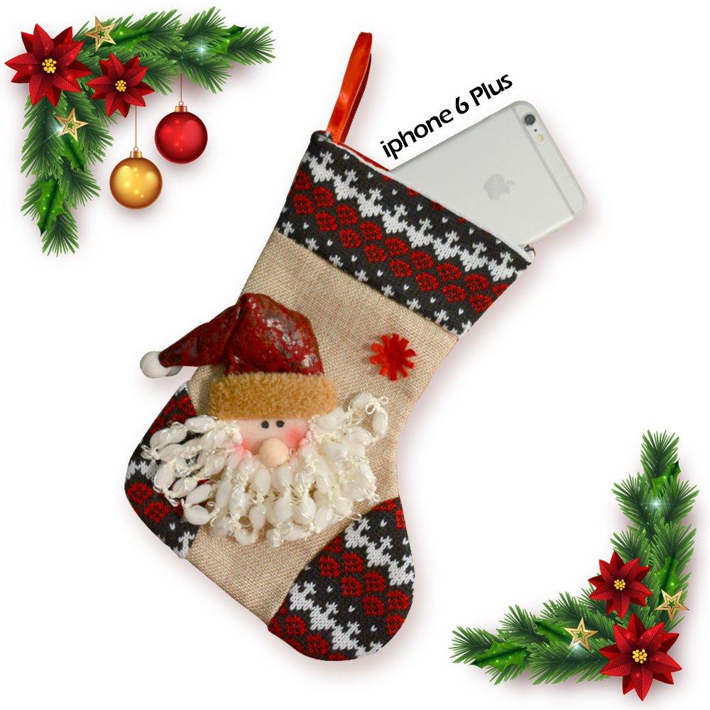 """Amazon.com: [6 PCS] Christmas Stockings 9.44"""" Candy Sock Bag ..."""