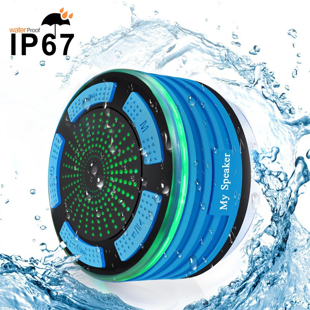 Waterproof Bluetooth Speaker BESUNTEK Shower Radio with FM..