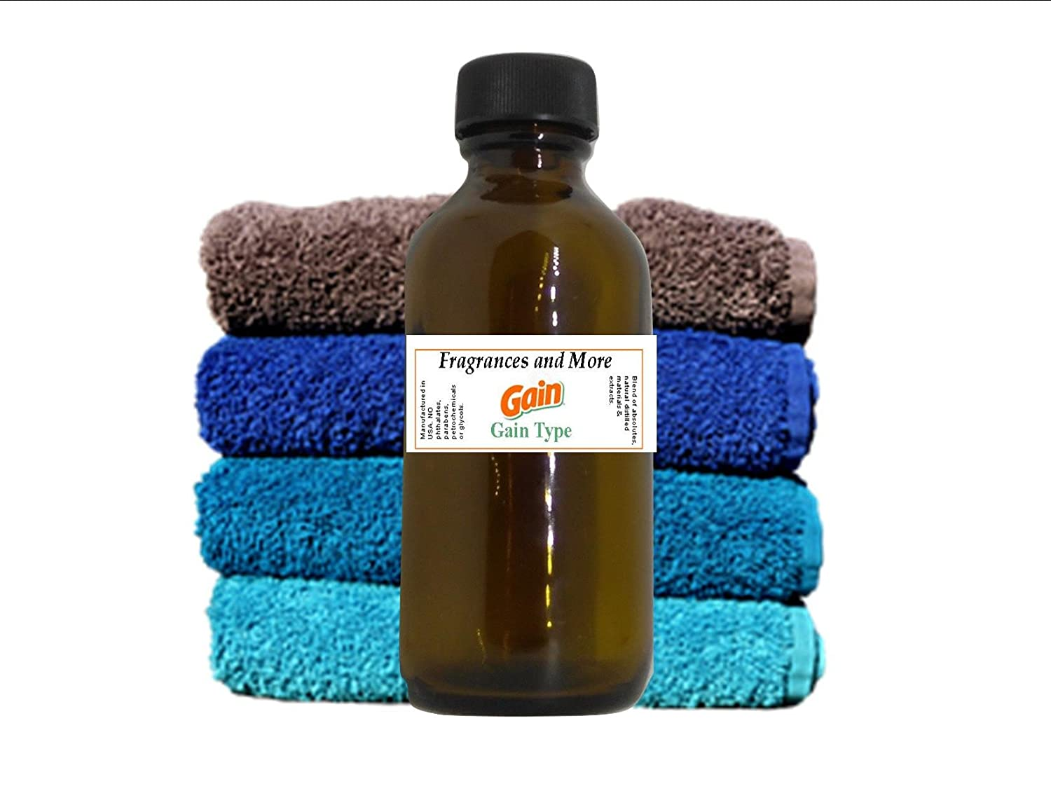 GAIN FRAGRANCE OIL | For Soap Making| Candle Making| For Use with Diffusers| Add to Bath & Body Products| Home and Office Scents| 2 oz amber glass bottle