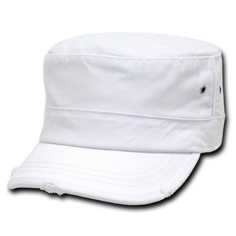801748e509e Amazon.com  Decky Orgianl Vintage G.I. Caps - WHITE - S   M -  Clothing