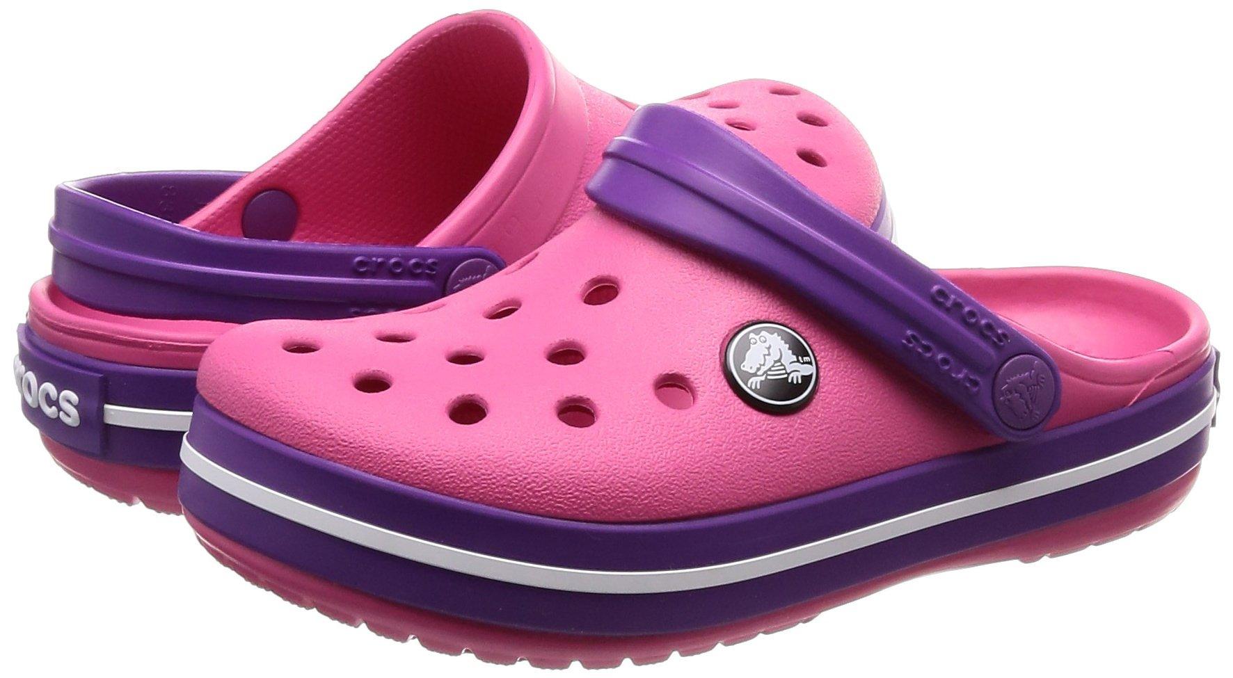 Crocs Kids' Crocband Clog, Paradise Pink/Amethyst, 1 M US Little by Crocs (Image #5)