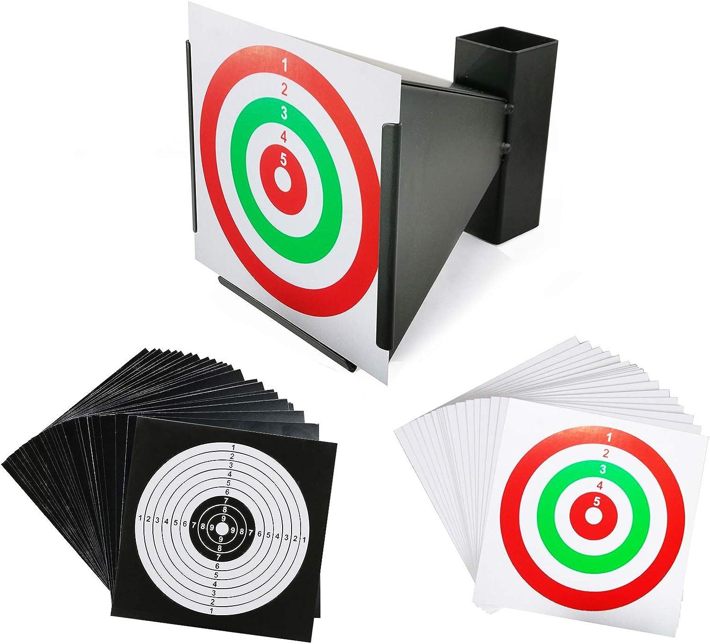 14X14cm Airgun BB Gun Pellet Trap Metal Shooting Target+10 Paper Target CA