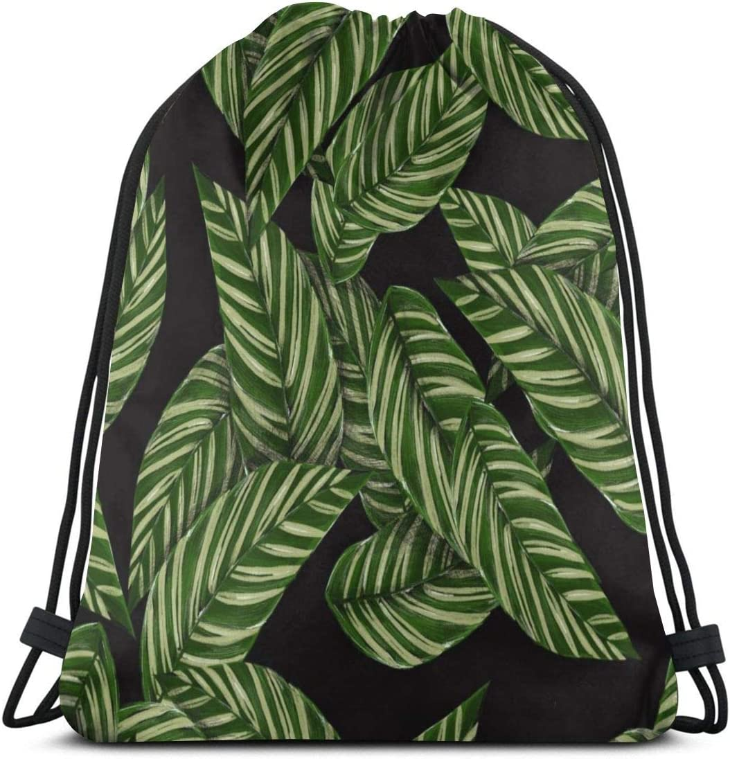 Leaves Tree Personalized Mens And Womens Sports Fitness Bag Drawstring Backpack Fashion Dance Bag Hiking Bag Light Weight
