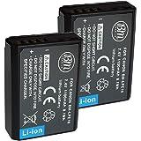 BM Premium 2-Pack of LP-E10 Batteries for Canon EOS Rebel T3, T5, T6, T7, Kiss X50, Kiss X70, EOS 1100D, EOS 1200D, EOS 1300D, EOS 2000D Digital Camera