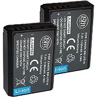 BM Premium 2-Pack of LP-E10 Batteries for Canon EOS Rebel T3, T5, T6, T7, Kiss X50, Kiss X70, T100, EOS 1100D, EOS 1200D, EOS 1300D, EOS 1500D, EOS 2000D, EOS 3000D EOS 4000D Digital Cameras