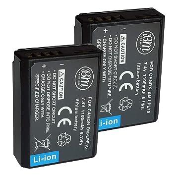 BM Premium , 2 Unidades LP-E10, LPE10 baterías para Canon EOS ...