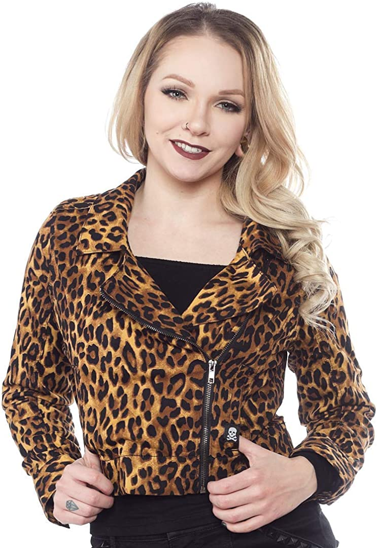 Sourpuss Leopard Moto Jacket