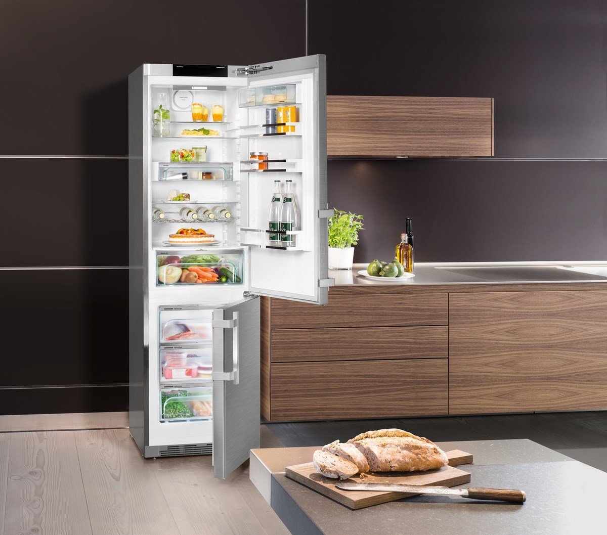 Superb Liebherr Cbnpes 4858 Freestanding 344L A + + + Stainless Steel Fridge And  Freezer   Freestanding Fridge Freezer, Stainless Steel, Right, Touch, TFT,  ... Amazing Ideas