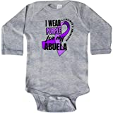 inktastic Alzheimers Awareness I Wear Purple for My Abuela Infant Tutu Bodysuit