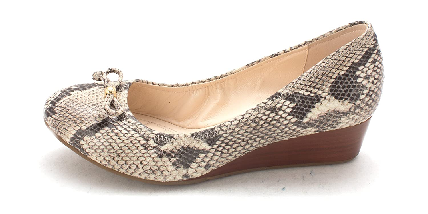 Cole Haan Womens Lavernasam Closed Toe Wedge Pumps Snakeprint Size 6.0