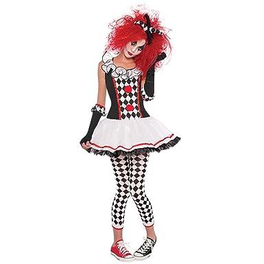 Petalum Damen Clown Kostum Harlekin Kostum Honey Halloween Karneval