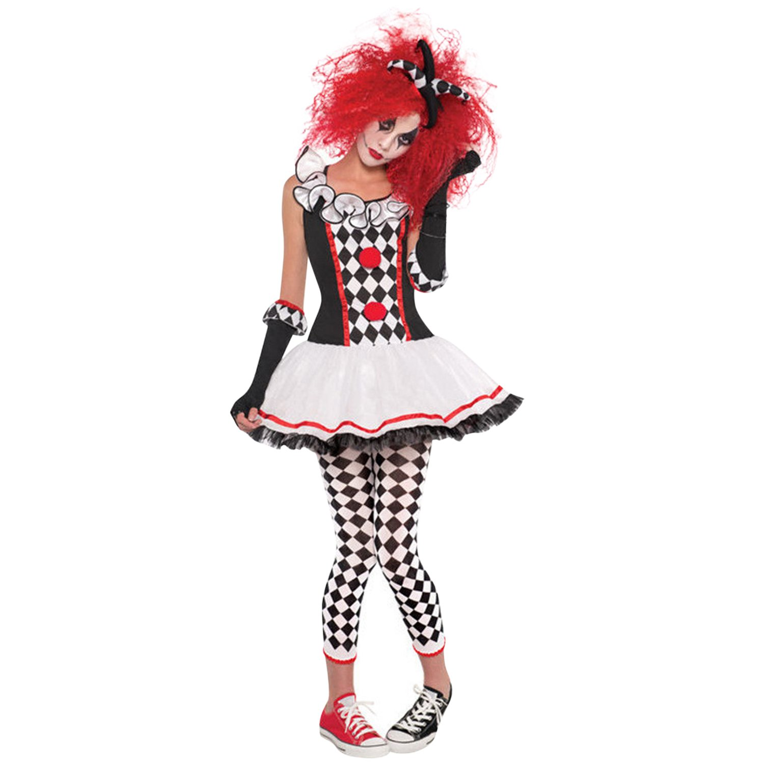 CHNS Women's Funny Clown Costume Cosplay Costumes for Halloween Carnival