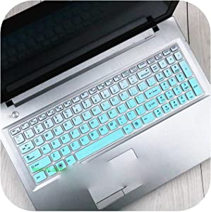 Hopereo 15.6 17.3 Silicone Keyboard Protector Cover Skin for Lenovo Y70-70 300-17 Y50C B70-80 B71-80 V2000 V4000 Y50C G50-70 Z50 N50-Gradualskyblue-