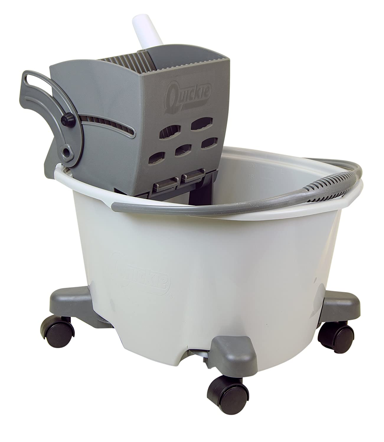Amazon.com: Quickie Easy Glide Mop Bucket with Wringer: Home & Kitchen