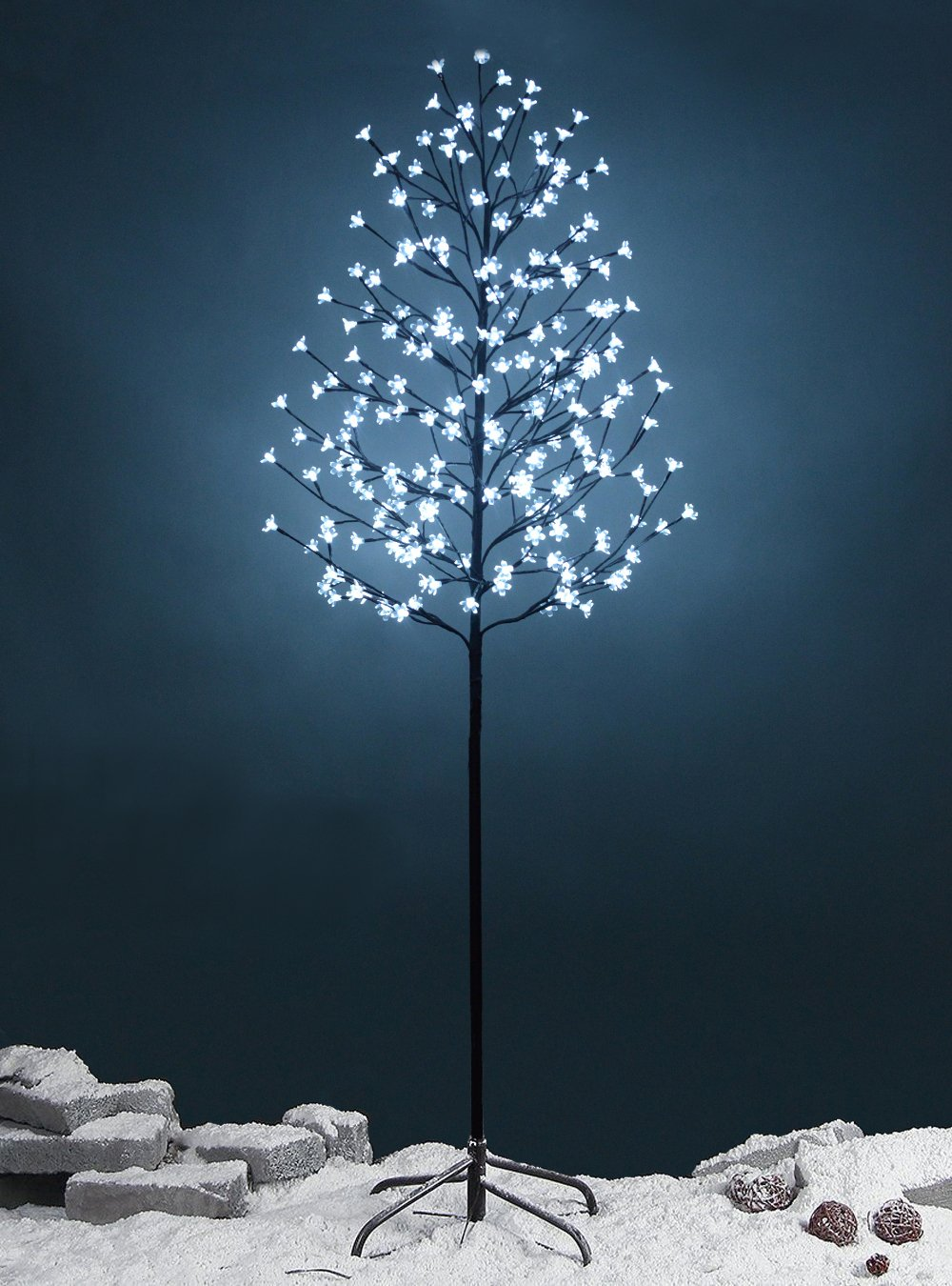 Fashionlite 6.5-feet 240 led cherry blossom flower tree light decoration(bright white)