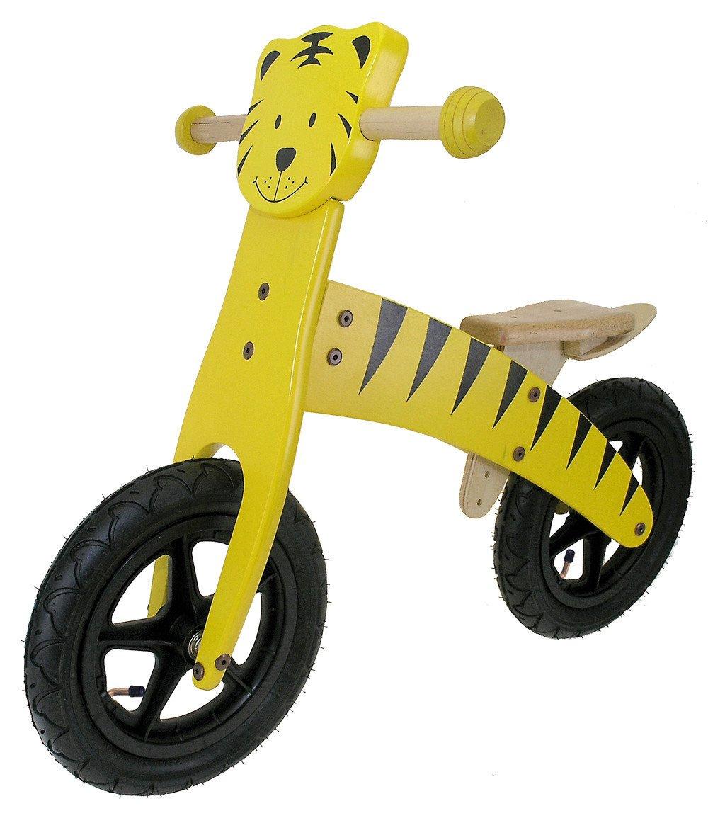 M-Wave Tigre Bicicleta Infantil de Madera, Amarillo, 12