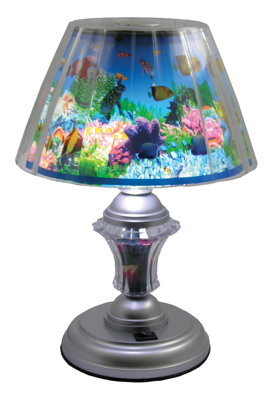 Aquarium desk lamp fish rotating ocean scene amazon aloadofball Image collections