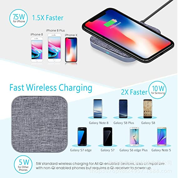 Diadia - Base de carga rápida para Samsung Galaxy S9/S9 Plus ...
