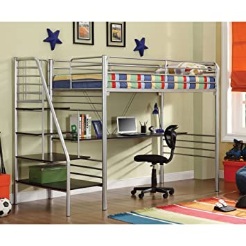 DONCO Kids 45045TSS Series Bed Twin Silver