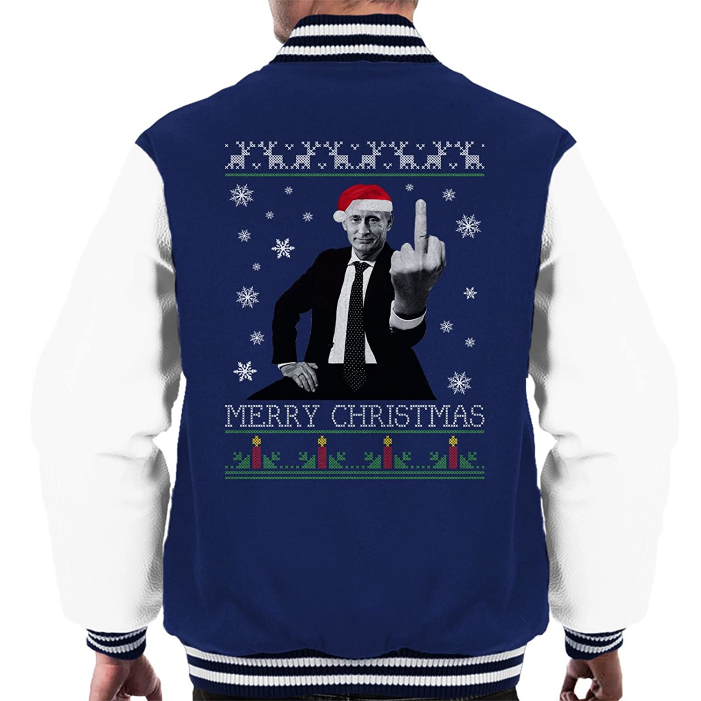 Vladamir Putin Merry Christmas Knit Men's Varsity Jacket
