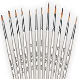LorDac Arts Detail Paint Brushes - Set of 12 Artist Miniature Paint Brushes for Art Painting with Acrylic, Watercolor, and Oil