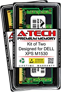 A-Tech 4GB (2 x 2GB) RAM for DELL XPS M1530   DDR2 667MHz SODIMM PC2-5300 200-Pin Non-ECC Memory Upgrade Kit