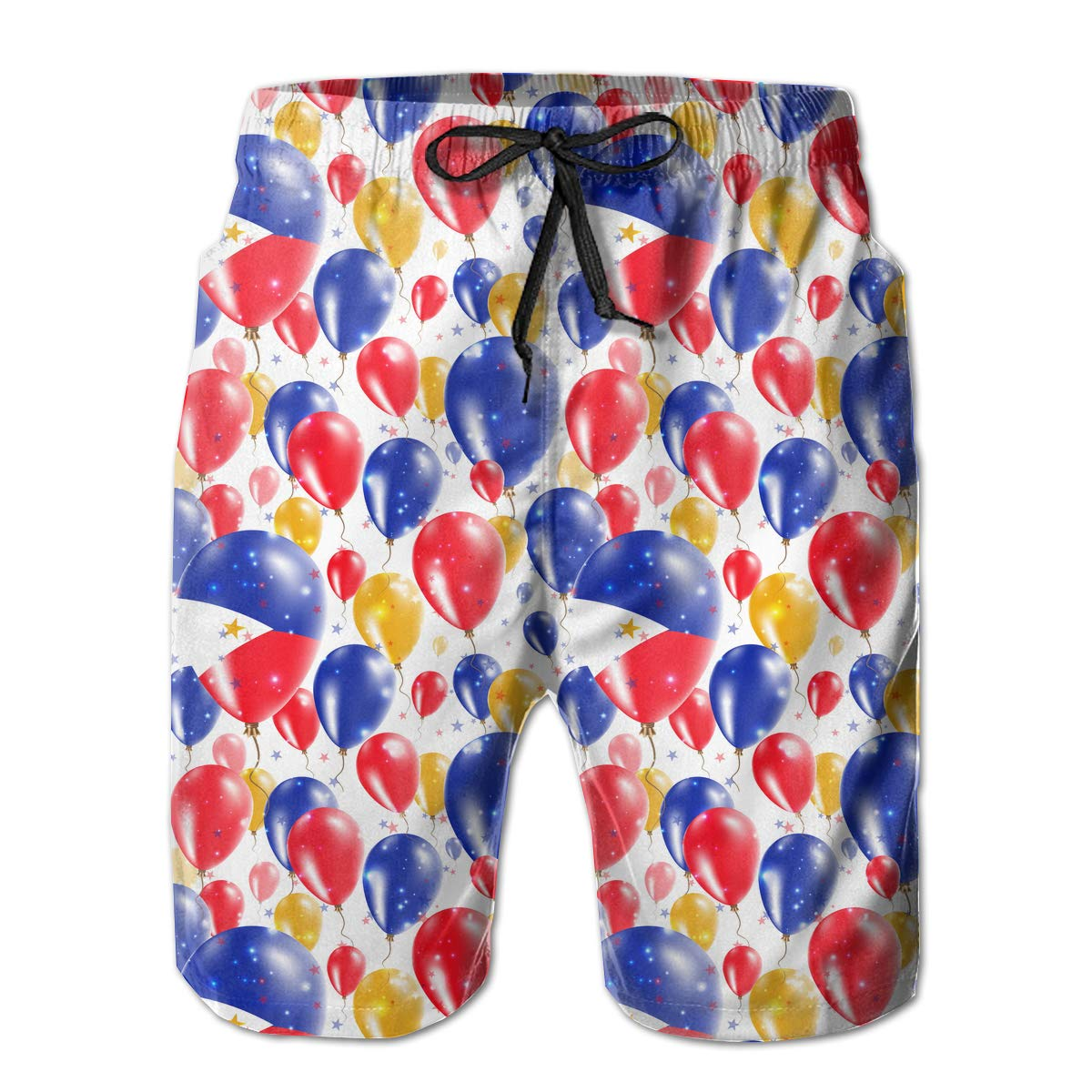 UHT28DG Philippines Independence Day Pattern Mens Fashion Board//Beach Shorts Quick Dry Pockets Swim Trunks
