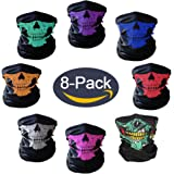 Motorcycle Face Masks Skull Mask Half Face forHalloweePartyOutdoor ByQERLIN