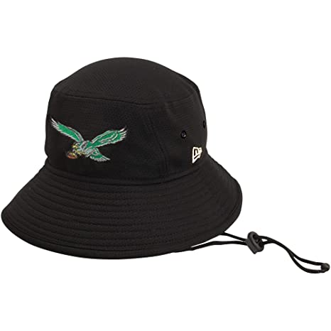new product b83b4 a35b1 Amazon.com  New Era 100% Authentic, NWT, Philadelphia Eagles Classic  Historic Logo Bucket Hat Black  Sports   Outdoors