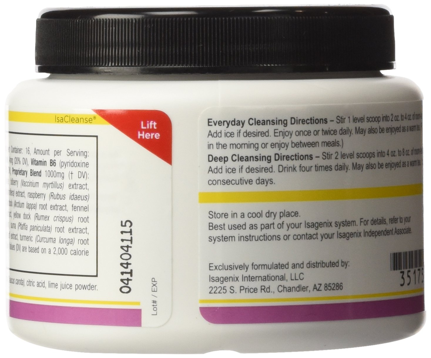 Isagenix Cleanse for Life Rich Berry Powder 96 g/(3.4 oz) by Isagenix (Image #4)