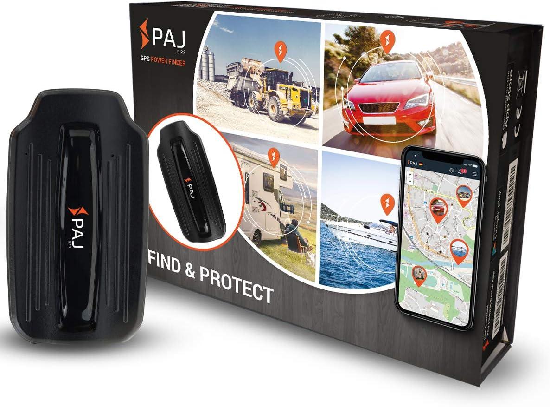 PAJ GPS Power Finder GPS Tracker Auto, Motocicleta y Camiones con imanes, Aproximadamente 40 días de duración de la batería (90 días Modo de Espera)
