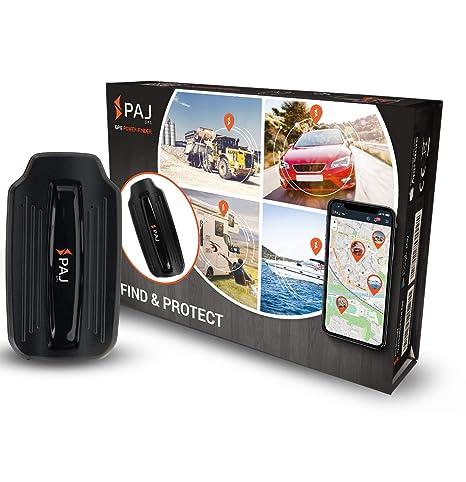 Localizador GPS Power Finder de PAJ con Imán -Marca Alemana- Seguimiento en Tiempo Real antirrobo, Seguro para Remolque y Coche- Batería de Larga ...