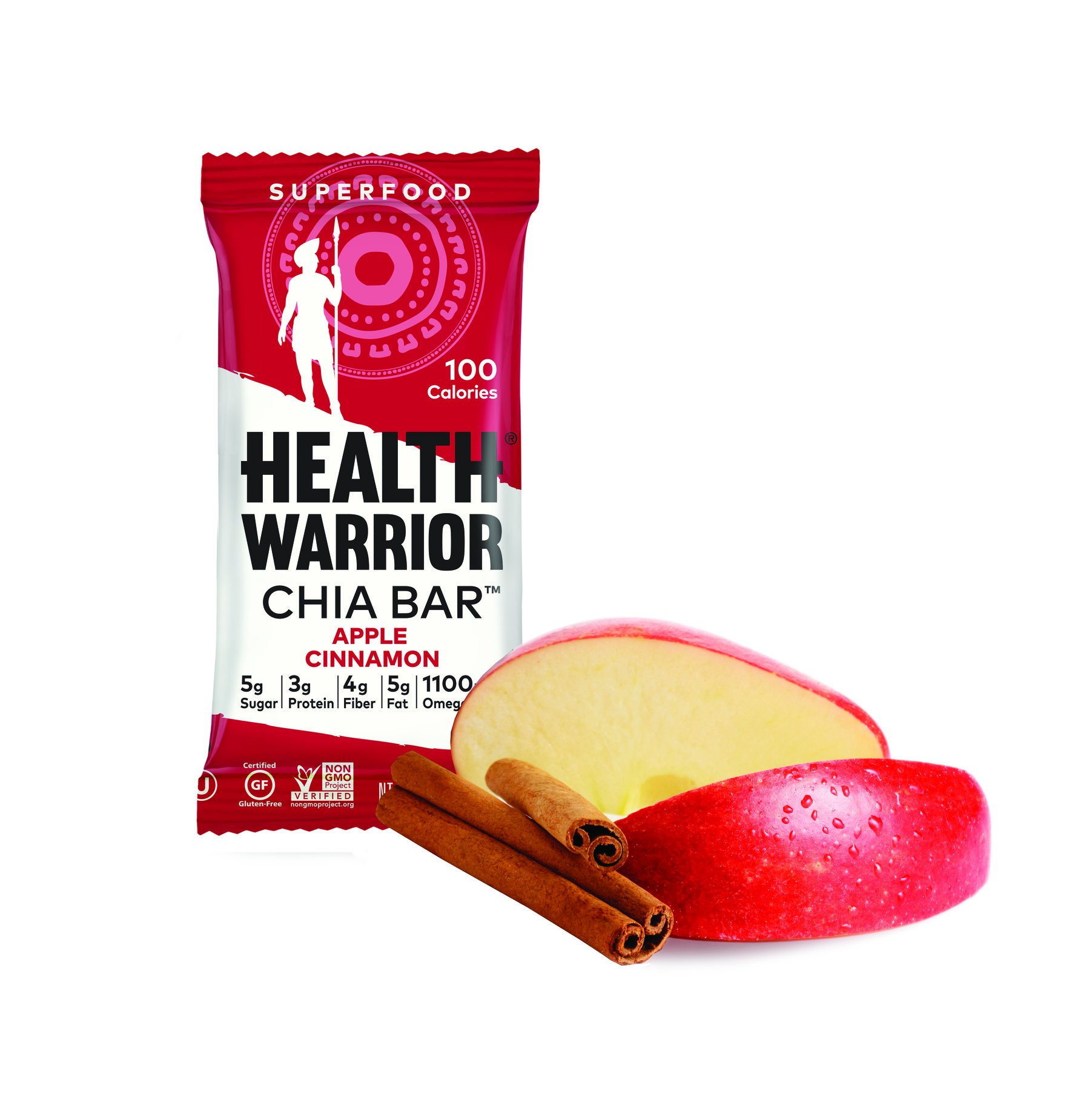 Health Warrior Apple Cinnamon Chia Bar, 0.88 oz