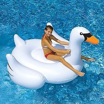 LUSTAR Piscina Inflable Flotador Floaties Gigante Flotador Flotante Anillo De Natación Cushion Cisne Piscina Flotador Monte Cama Flotante: Amazon.es: Hogar
