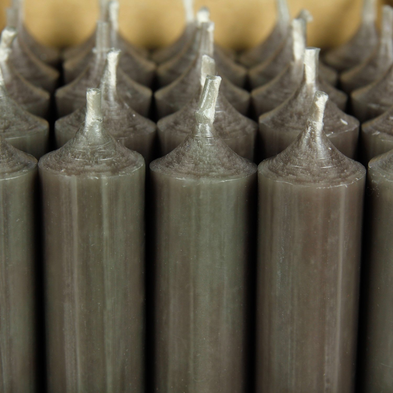 B/ütic GmbH durchgef/ärbte Stabkerzen 100mm x /Ø 22mm Set mit:1 St/ück Farbe:Taupe hochgereinigte Kerzen mit r/ückstandsfreiem Abbrand
