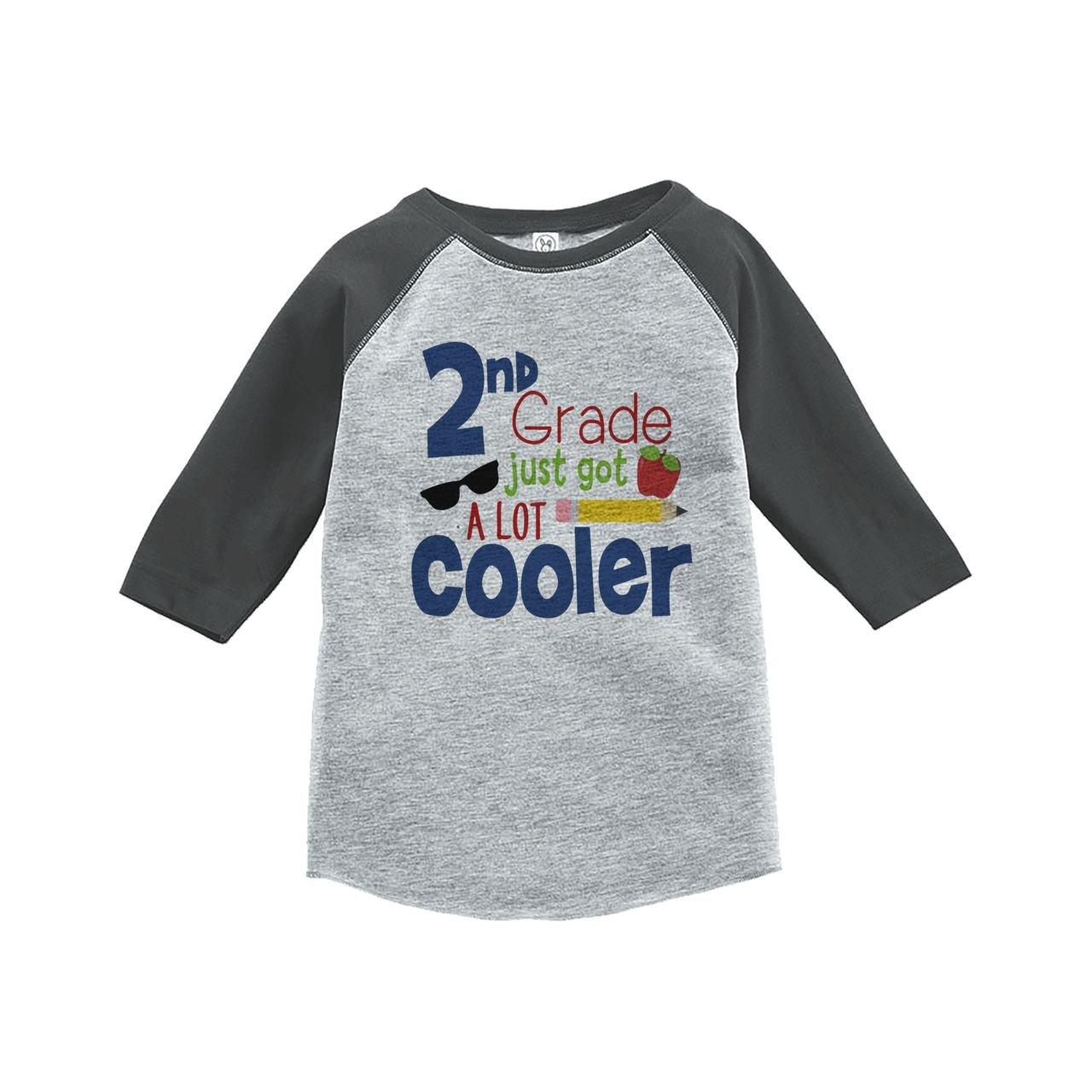 Custom Party Shop Kids 2nd Grade Got Cooler School Grey Baseball Tee