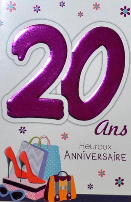carte anniversaire 20 ans fille Age Mv 69 2022 Carte Anniversaire 20 ans Fille Jeune Femme motif