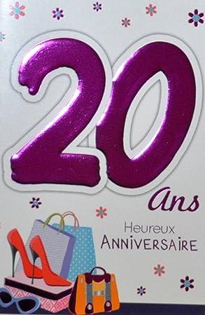 Age Mv 69 2022 Carte Anniversaire 20 Ans Fille Jeune Femme Motif