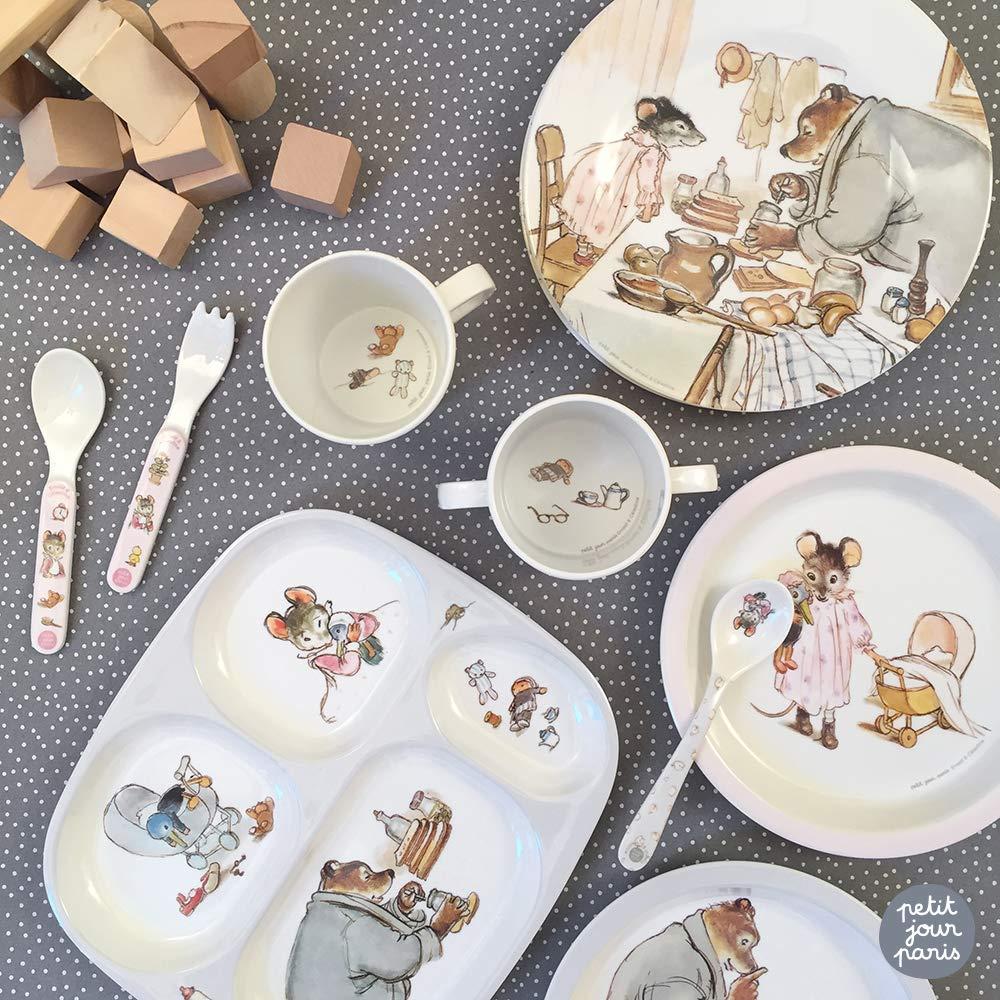 Diversifikation geschirrset Ernest /& C/élestine Petit Jour Paris Um wie die Erwachsenen zu essen