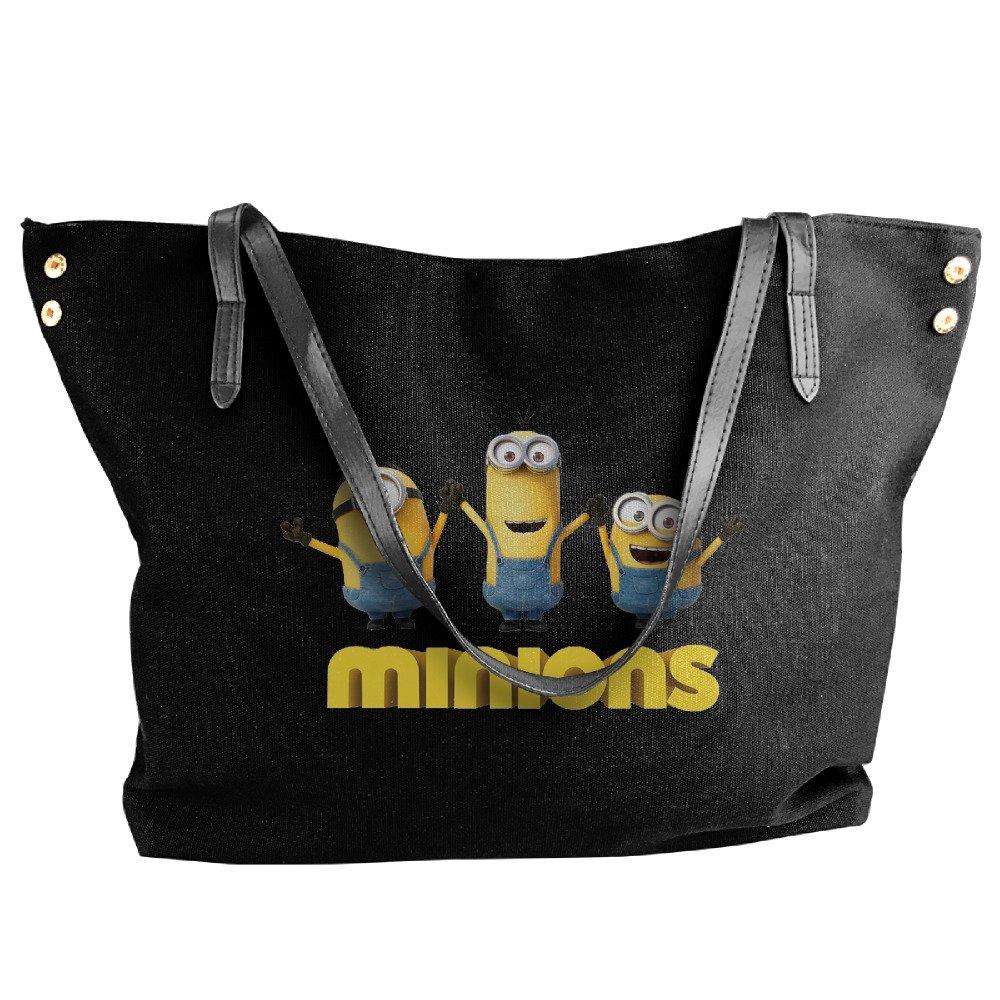 Movie Cute Minions Tote Bag For Women Canvas Shoulder Handbags