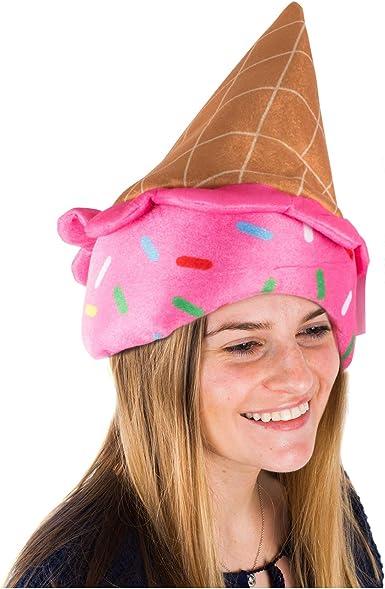 Tigerdoe Ice Cream Party Hat - Disfraz de Cono de Helado - Gorros ...