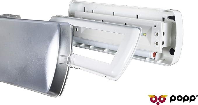 POPP® Pack de x1 x5 x10 Luz de emergencia Empotrable/Superficie LED 1.5W 200lm techo pared salida emergencia seguridad [Clase de eficiencia energética A++] (EMPOTRADA, 5 UNIDAD): Amazon.es: Iluminación