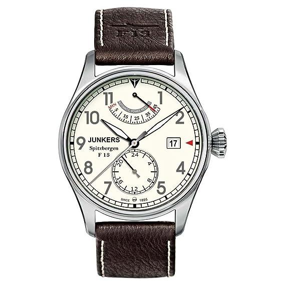 Junkers Spitzbergen F13 - Reloj de automático para hombre, con correa de cuero, color marrón: Amazon.es: Relojes