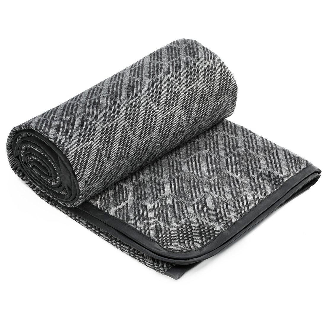 SPENCER&WHITNEY Picnic Blanket Waterproof 10% Wool/90% POLYESTER Large Waterproof Picnic Blanket All-Purpose Foldable Fleece Picnic Blanket