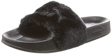 brand new b732e f86fe Puma Women's The Fur Slide Black Leather Safety Shoes - 6 UK ...