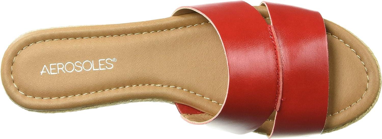 Aerosoles Back Drop Flat Sandalias para mujer Rojo