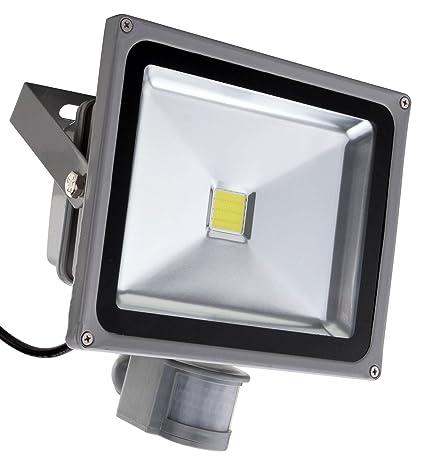 Showlite FL-2030B LED focos IP65 30W 2200 Lumen detector de movimiento