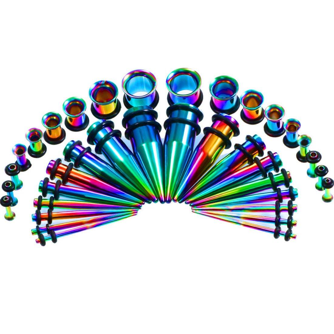 36 Piezas Dilatador Acero Quirurgico Set 1.6-10mm-Huacan Dilatación de Oreja Túnel: Amazon.es: Joyería