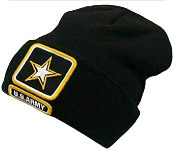 39b7ca99cd5c2a Amazon.com: US Army Black Winter Knit Hat Star United States Skully Beanie:  Everything Else